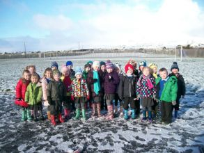 P1/2 had lots of fun in the snow!